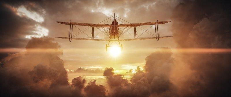 Download 1280x1024 Battlefield 1, Aircraft, Sunset, Beyond T