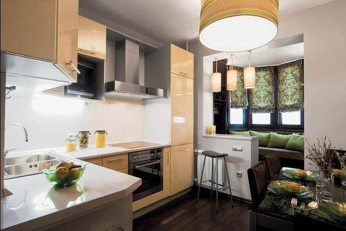 Объединение кухни с балконом - это мечта каждого человека, к.