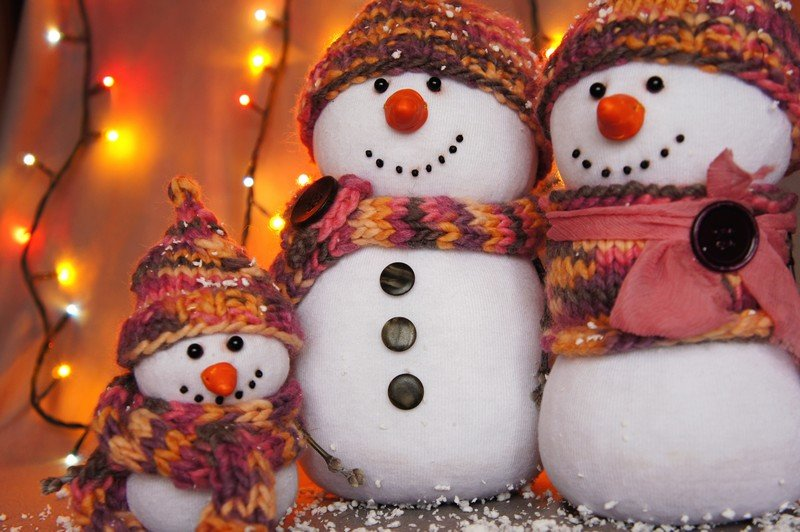 Картинки снеговик своими руками