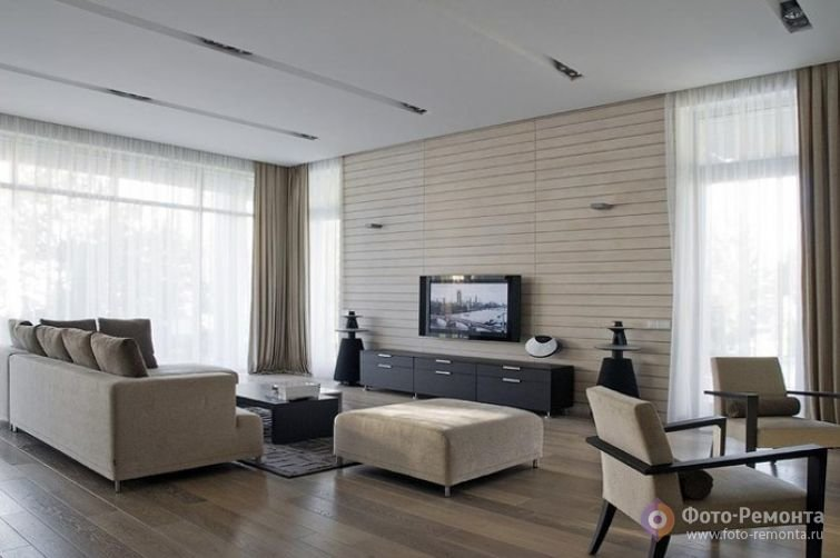 Интерьер гостиной в стиле минимализм