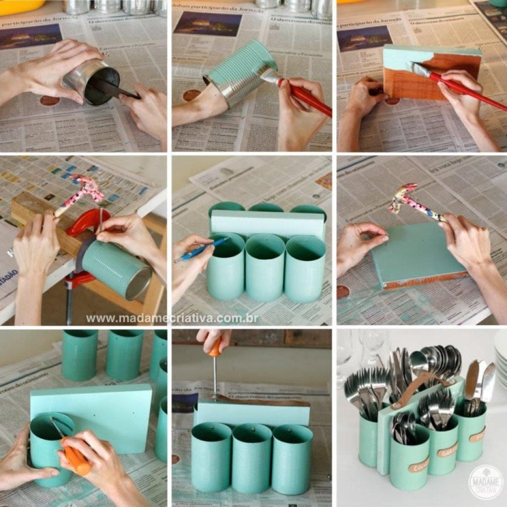 تزیین شمع با نگین اتریشی Smart Cutlery And Utensils Storage Ideas For Your Kitchen DIY arts and crafts