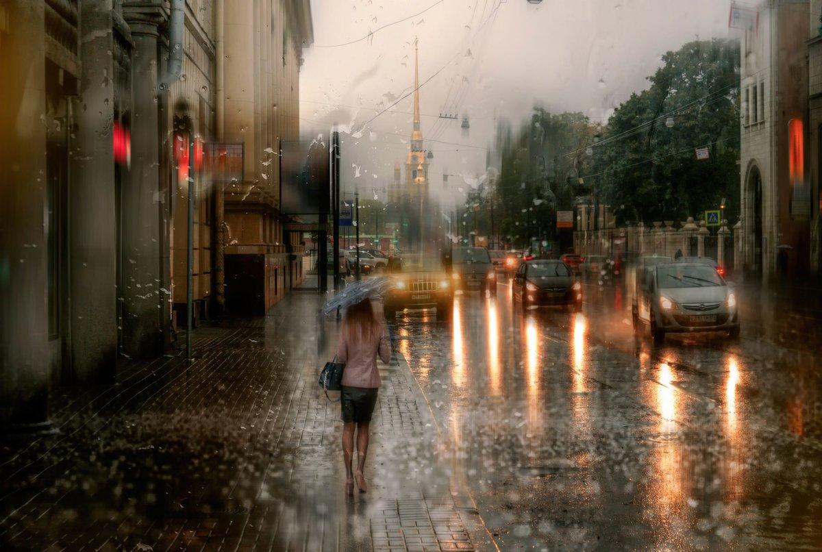 Картинки дождь в городе летом