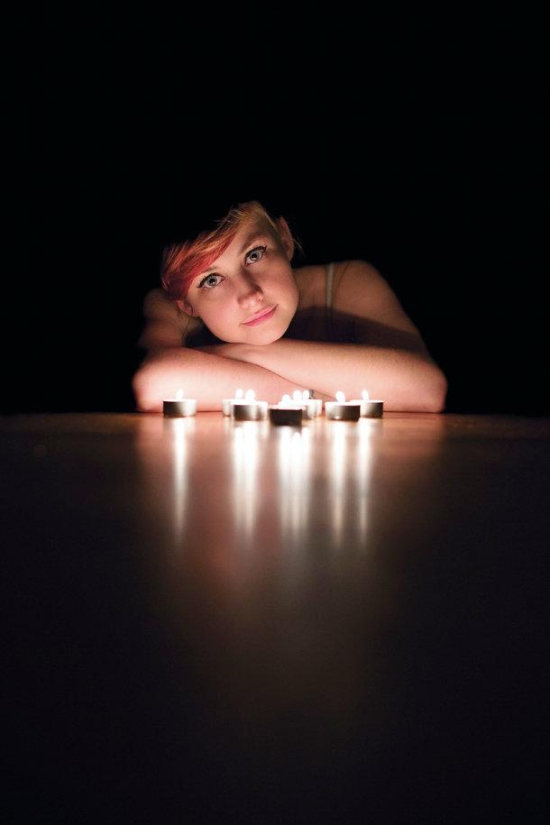 это при как сфотографировать портрет в темноте прошло