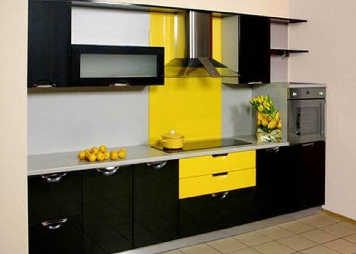 Кухонные гарнитуры жёлтого цвета фото