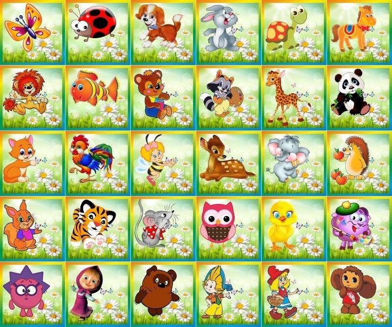 Картинки для шкафчиков и кроваток в детском саду