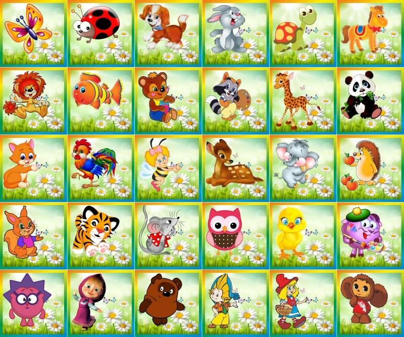 Картинки на кроватки в детский сад с цифрами 35 шт