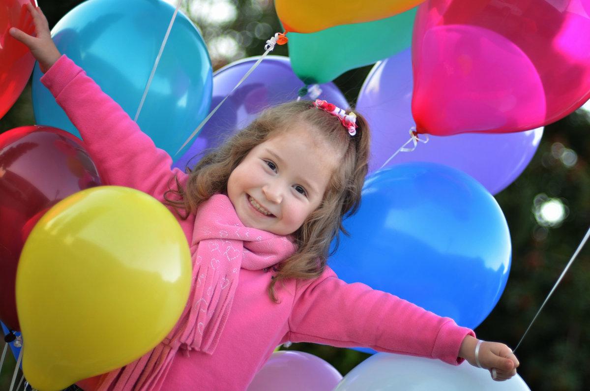 Дети картинка с шарами, открытки юмором