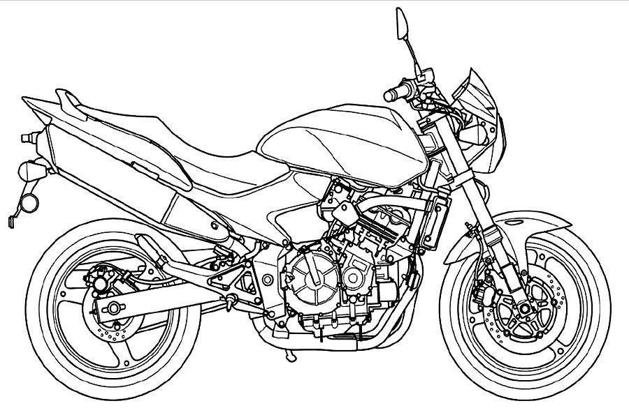 Картинки мотоциклов для раскрашивания, открыток 50-х