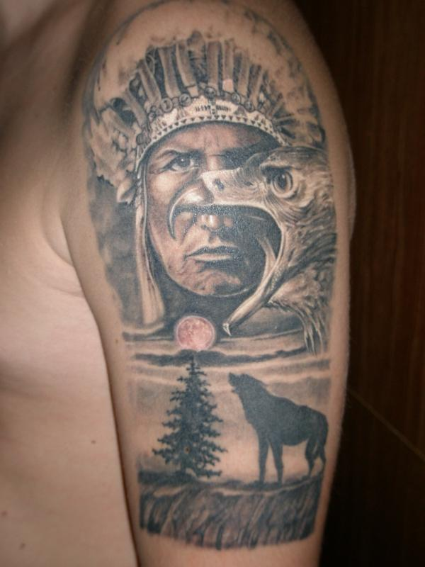 тату с индейцами фото