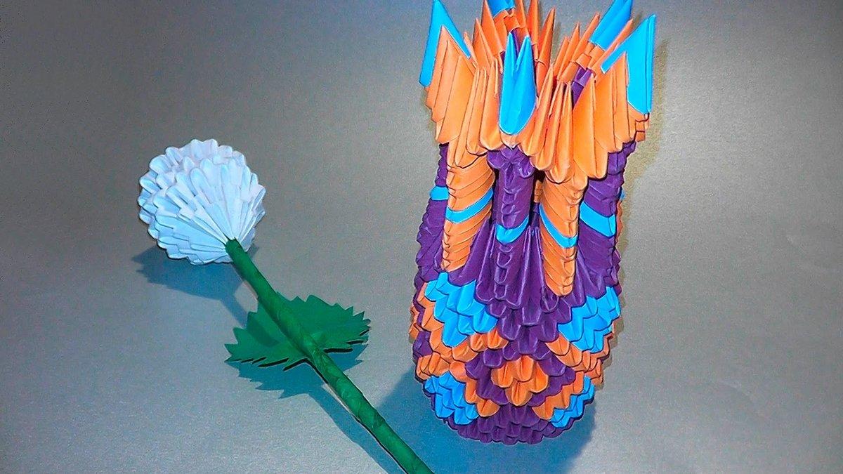 3d Origami Vase Tutorial Fvpk O Card From User Sanvasach In