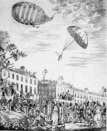3 июня 1785 года Франсуа Бланшар продемонстрировал сконструированный им парашют. День рождения парашюта