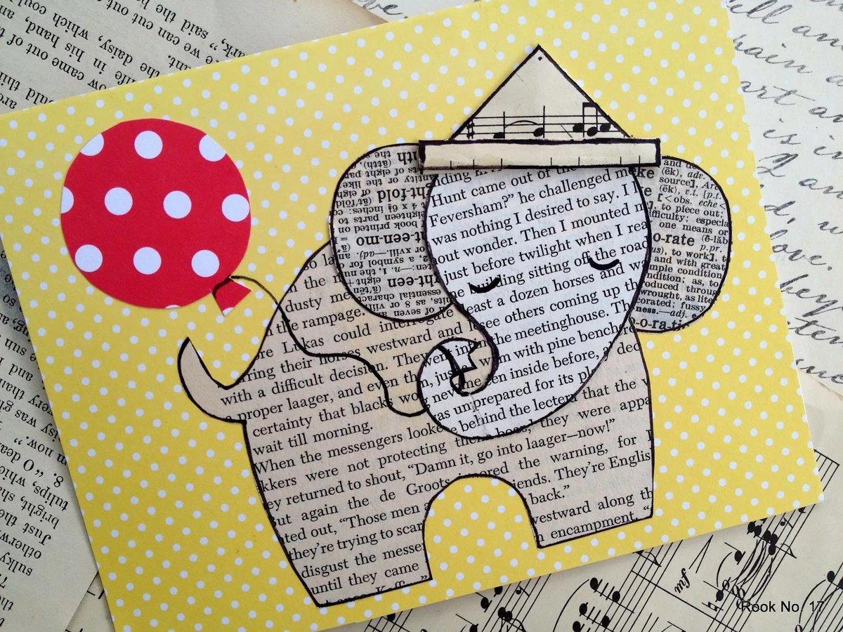Днем, открытка со слоном своими руками шаблон