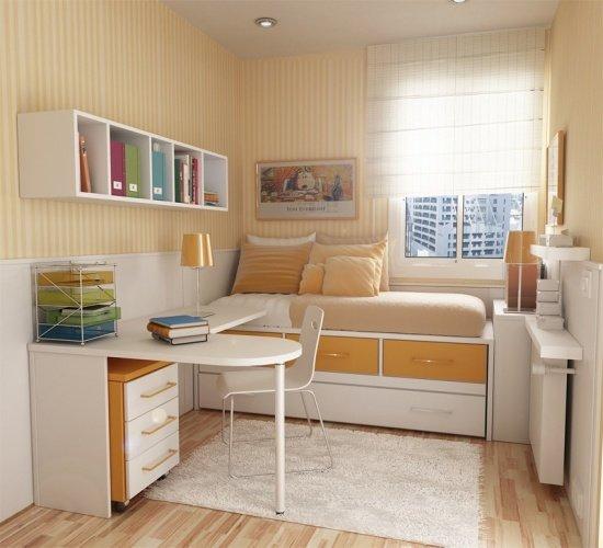Мебель для младенца и дошкольника Мебель для младшего школьника Маленькая комната для подростка №4. Дизайн маленькой детской комнаты для двоих №5. Система хранения №6. Выбор отделочных материалов и цветовой схемы №7. Освещение в детской комнате В заключение Казалось бы, маленькая комната для ребенка, маленького человека, не должна стать проблемой, ведь вроде бы все пропорционально.