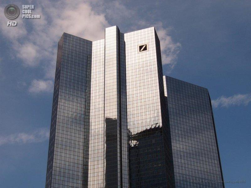 Роскошные Deutsche-Bank-Hochhaus (рус. Башни-близнецы Банка Германии) — два небоскрёба, являющиеся штаб-квартирой Банка Германии, находящиеся во Франкфурте