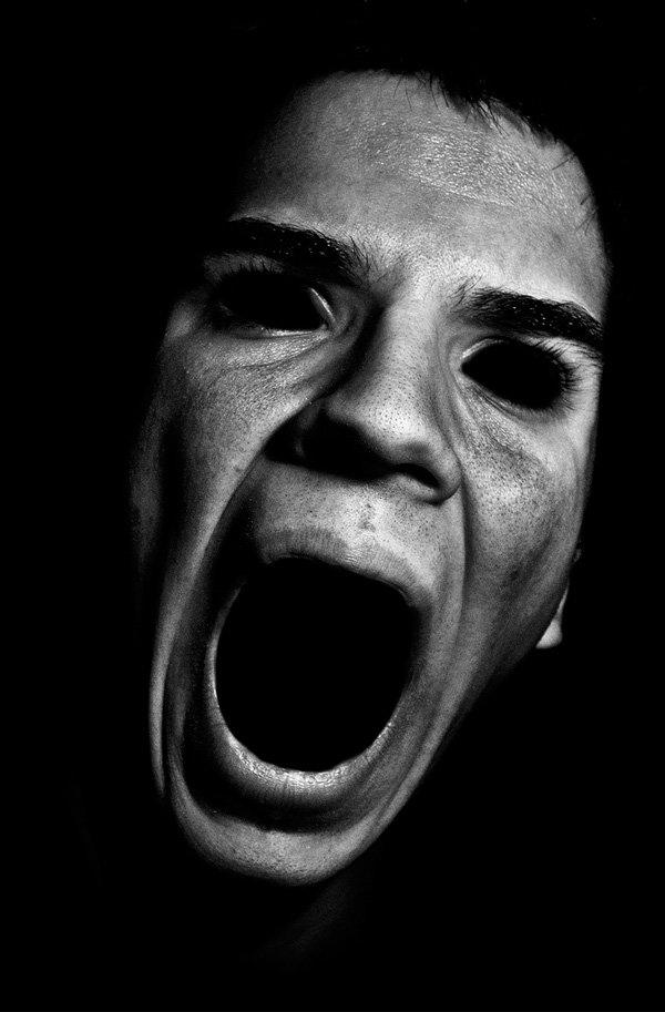 Картинка черно белая страх