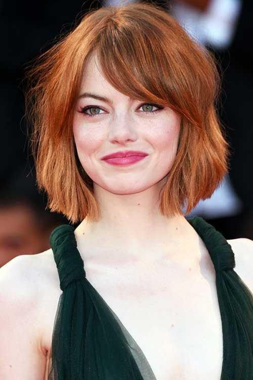 Фото рыжий цвет волос каре фото