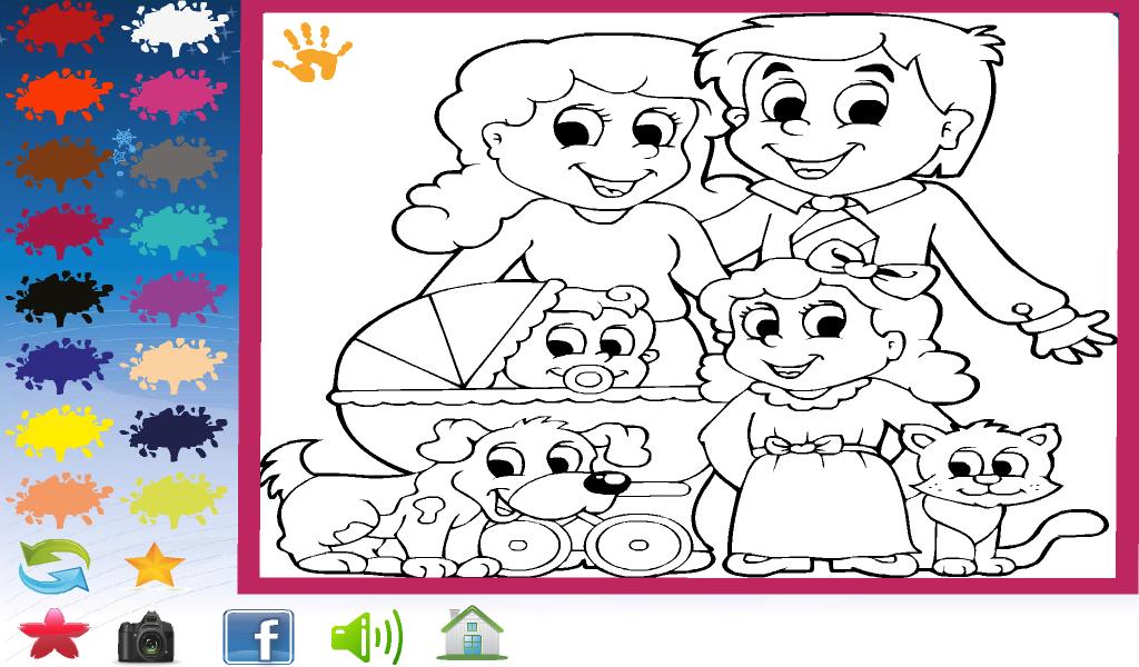 Счастлива картинки, детская игра раскраски онлайн