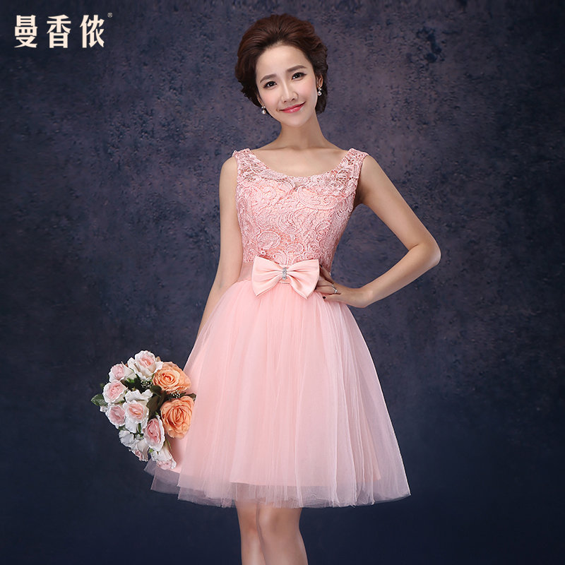 Свадебное платье фото розовое короткое