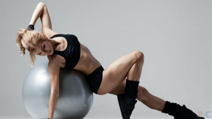 Занятия с фитнес-шаром