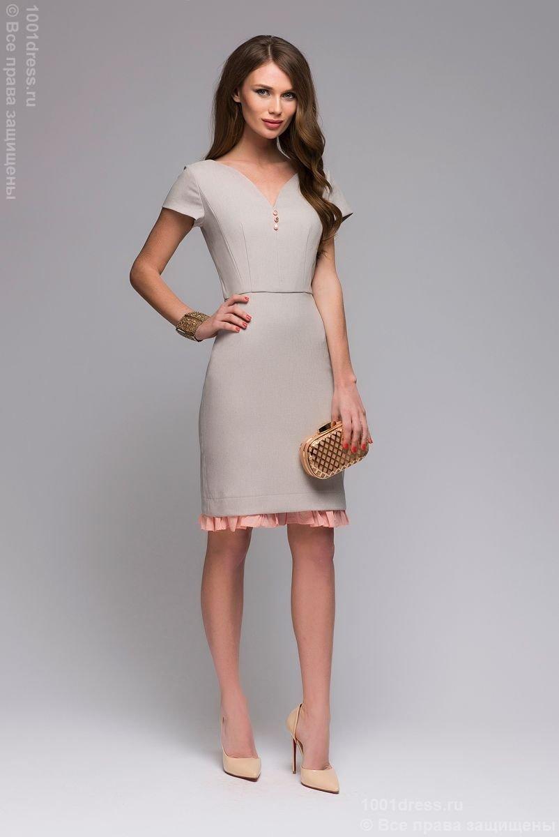 7675bcc24aa2761 Черное платье-футляр без рукавов с V-образным вырезом » — карточка ...