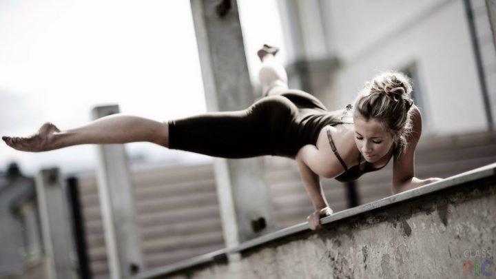 Занятия фитнесом на улице