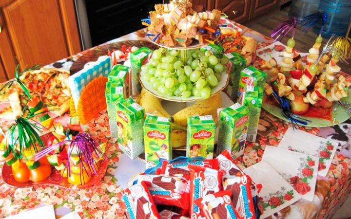 Меню на детский день рождения: фото, рецепты, идеи блюд