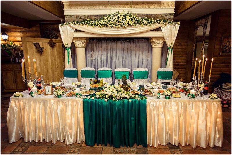 Украшения зала на золотую свадьбу 47
