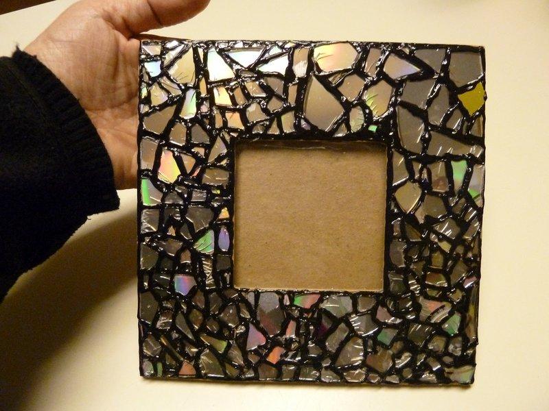 Рамка для фото своими руками из дисков