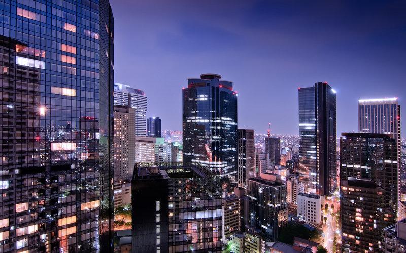 мегаполис, японии, токио