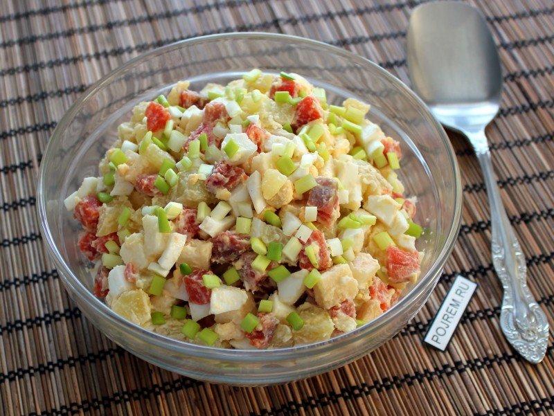 Салат из рыбы простой