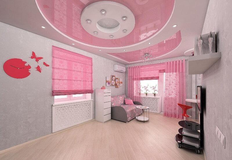 Интерьер с применением розового цвета
