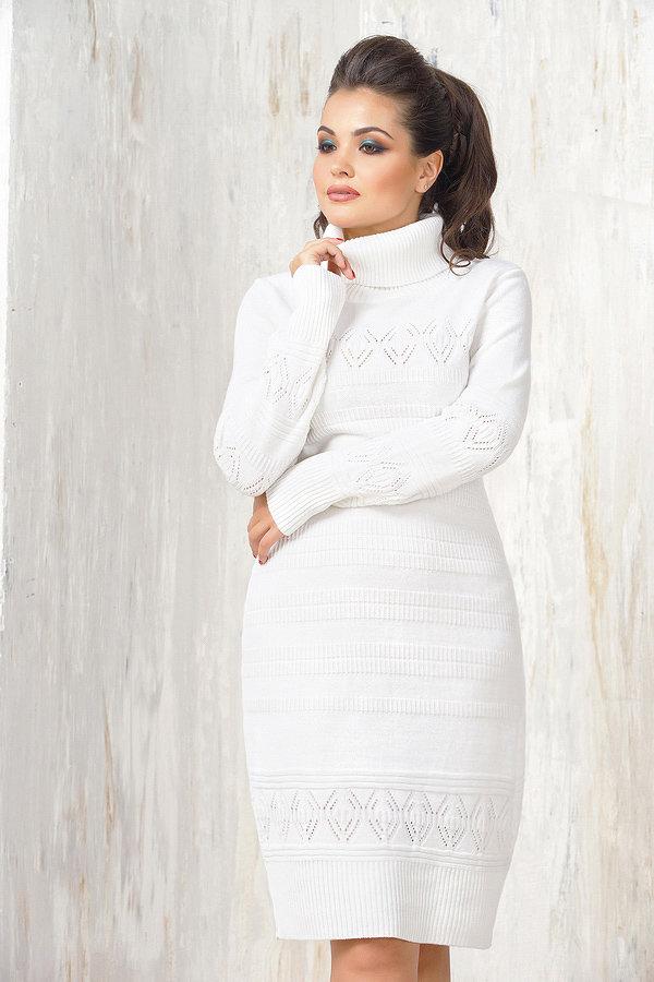Белые зимние платья фото