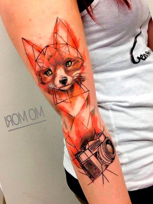Татуировки лисы на руку фото