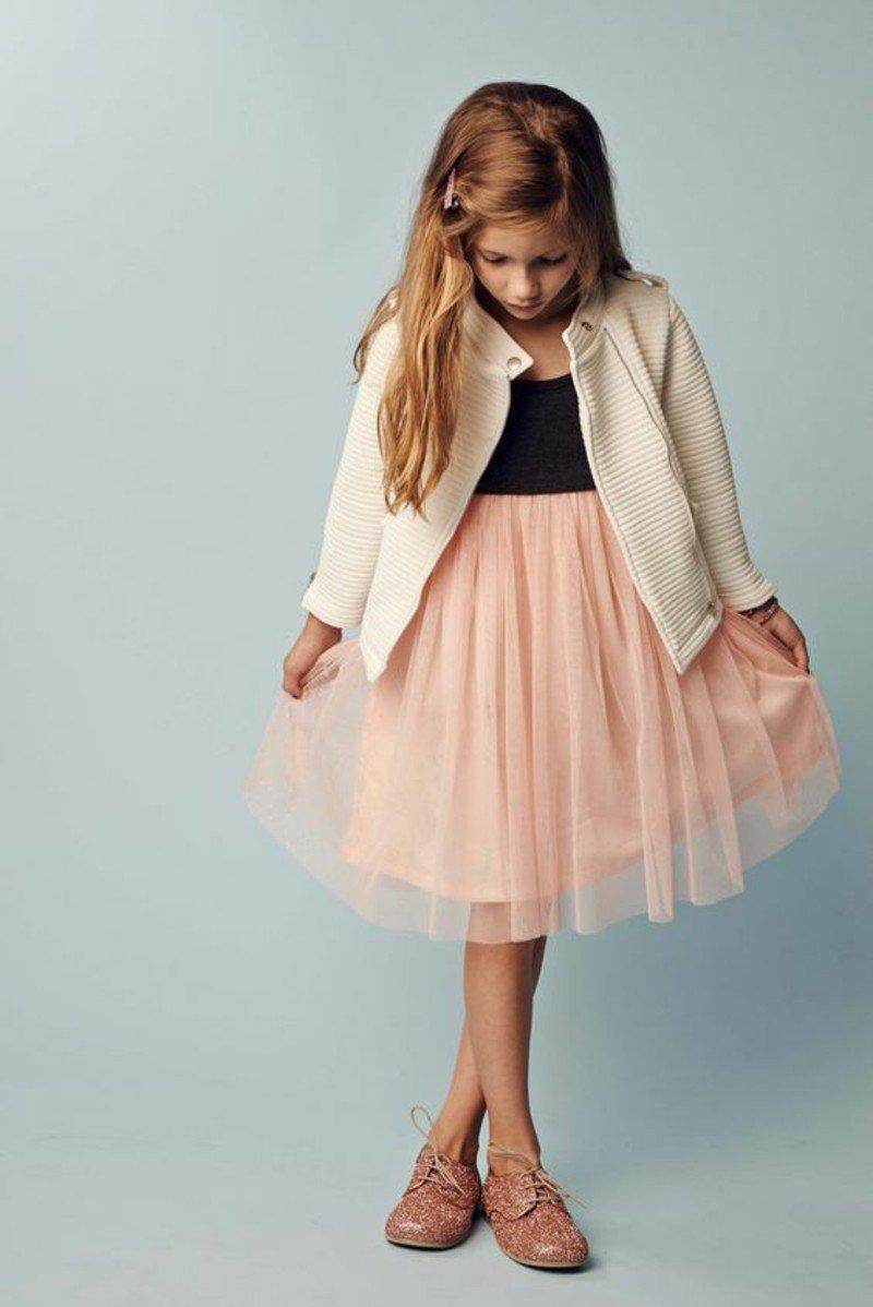 Детская мода девочки принцессы, юбка тюль.