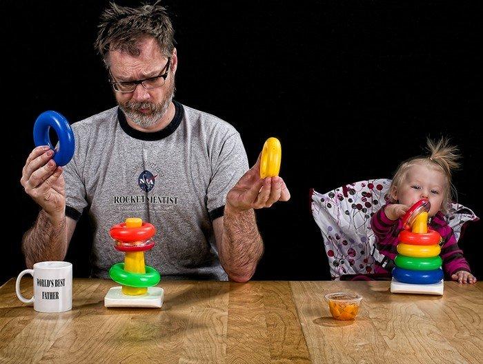 Картинки папа с ребенком приколы