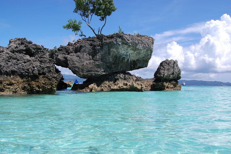 остров боракай скалы сверх дерево
