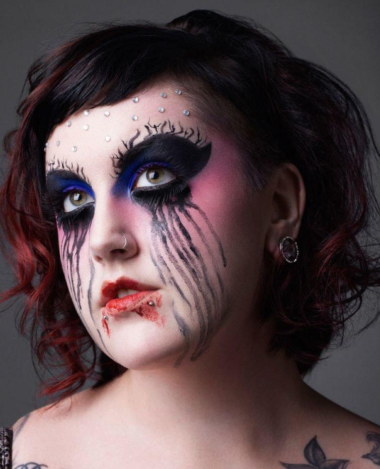 фотки макияжа на хэллоуин довольно