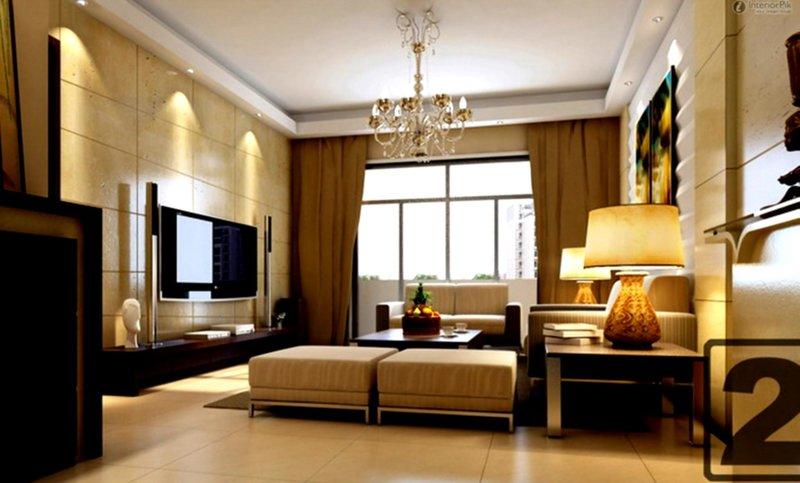 интерьер гостиной в желтом стиле