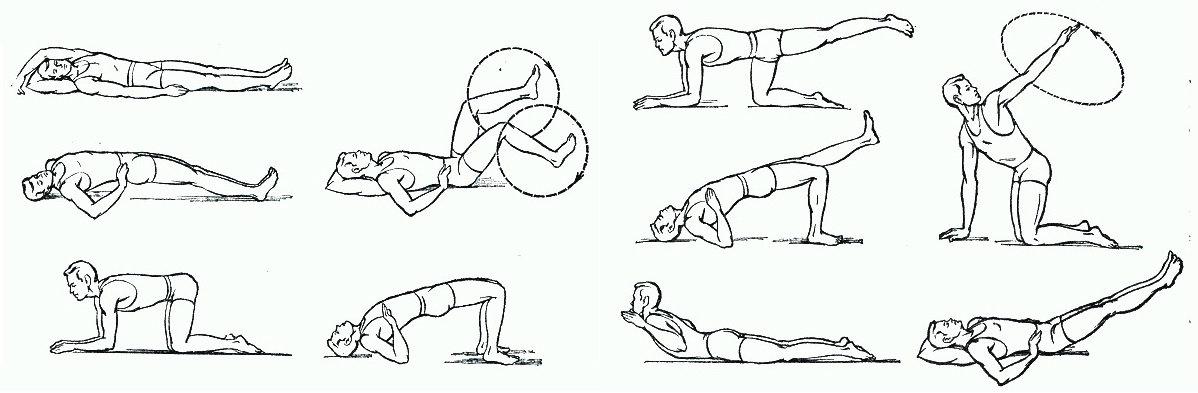 гимнастика для позвоночника с грыжей с картинками юности