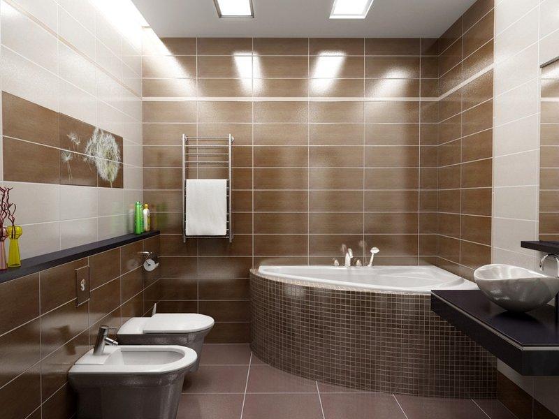 Освещение в ванной комнате играет большую роль