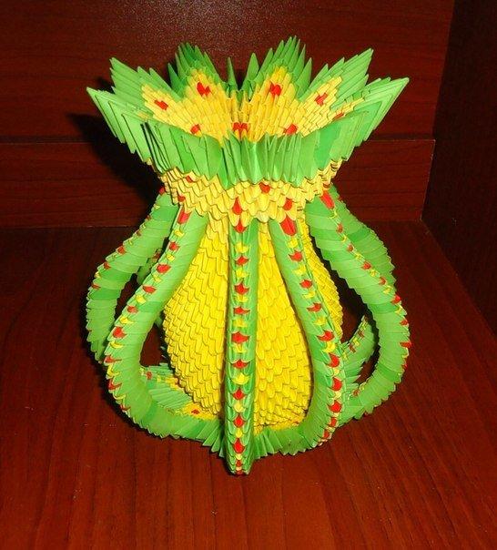модульное оригами ваза осеннее настроение