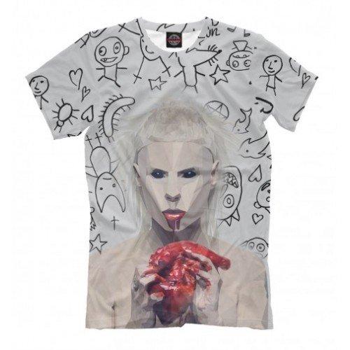Мужская футболка 3D Йоланди с сердцем