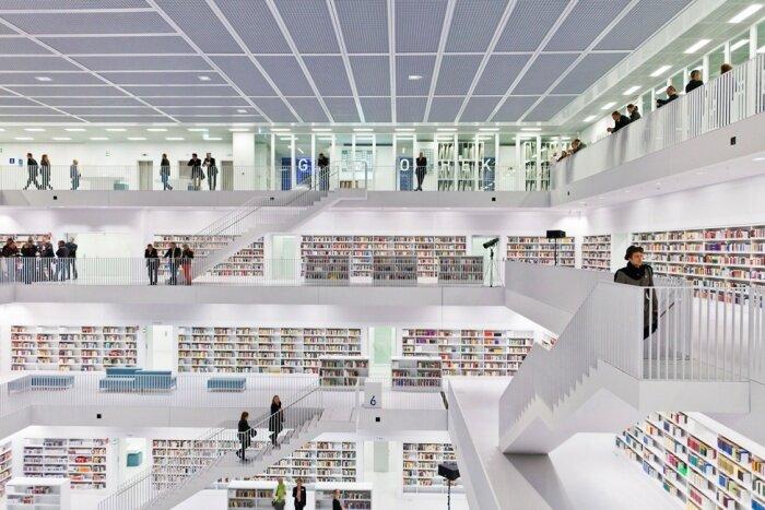 Интерьер библиотеки в современном стиле