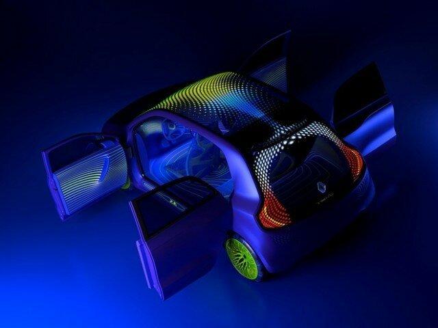 Новый Шоу-кар Twin'Z  по замыслу Рено символизирует игру, что определённо заметно и во внешнем облике концепта.