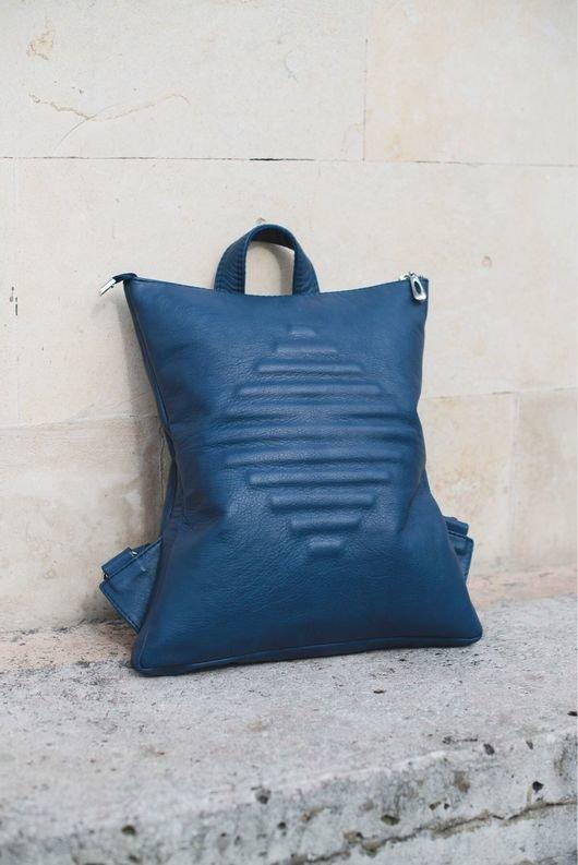 Купить или заказать Рюкзак кожаный Concept DarkBlue в интернет-магазине на Ярмарке  Мастеров. Полюбившаяся 798a507bb5c