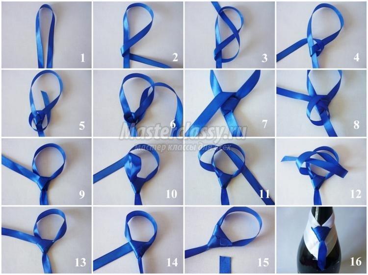 Днем рождения, как сделать галстук на открытку из атласной ленты своими руками