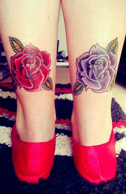 Цветочные татуировки роза