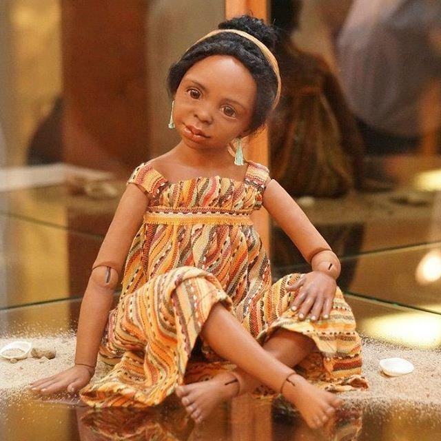 Авторская кукла-мулатка