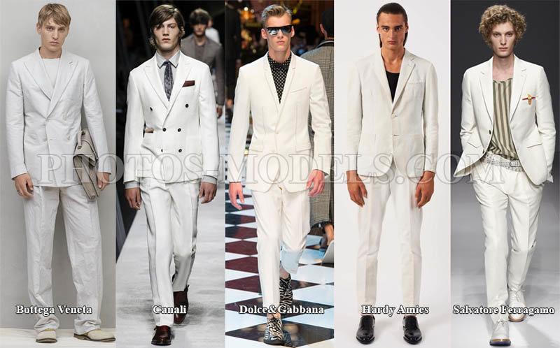 Мужская мода весна-лето 2017 фото тенденции Белый мужской костюм в моде 2017 5723541a184
