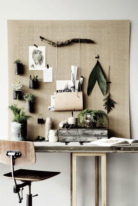 Стильные идеи использования перфорированных панелей в интерьере.